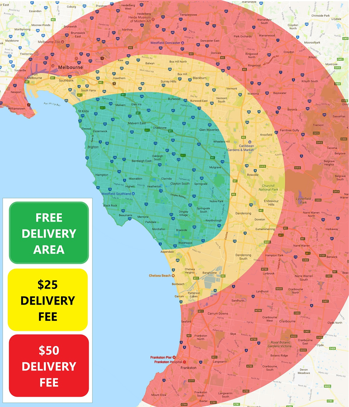 Delivery Frees map